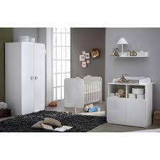 chambre complete cdiscount teddy chambre bébé complète coloris blanc et blanc velours blanc