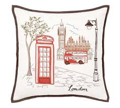 london embroidered pillow cover pottery barn