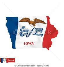 Iowa State Map With Waving Flag Of Us Vector Eps Vectors Rh Canstockphoto Ca