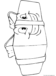 Christmas Presents With Happy Face Coloring Pages For KidsFree