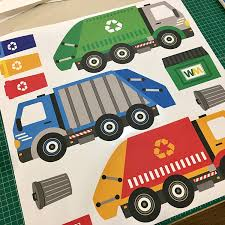 Amazoncom Garbage Truck Wall Decals Recycling Truck Decals With 15 ... Cars Wall Decals Best Vinyl Decal Monster Truck Garage Decor Cstruction For Boys Fire Truck Wall Decal Department Art Custom Sticker Dump Xxl Nursery Kids Rooms Boy Room Fire Xl Trucks Stickers Elitflat Plane Car Etsy Murals Theme Ideas Racing Art