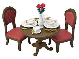 Sylvanian Families Tf 05 Town Series Chic Dining Table Set Ep29530