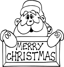 Santa Claus Coloring Pages Merry Christmas