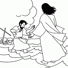 Picture Coloring Jesus Walks On Water Page At Peter Pages
