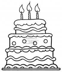 Birthday Cake Coloring Pages 18