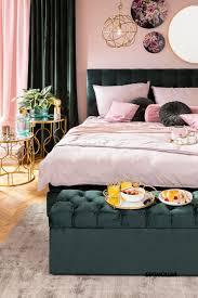 grün trifft rosé schlafzimmer schlafzimmer einrichten