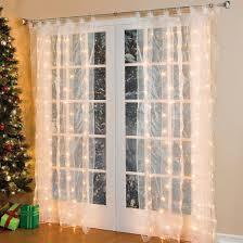 Ceramic Christmas Tree Bulbs Amazon by Com Brylanehome Pre Lit Curtain Panel String Lights