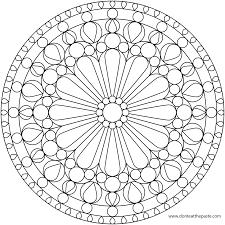 Easy Mandala To Print
