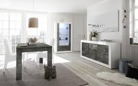 esszimmer leonello mit vitrine weiß ossido