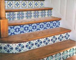 santa ana tile stencil easy way to improve wall decor diy