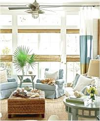 Living RoomClassic Beach Themed Room With Sea Blue Chair And Round Side Table