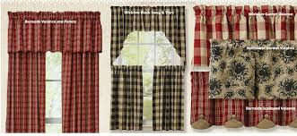 Primitive Living Room Curtains by Country Style Curtains Country Kitchen Curtains Primitive In