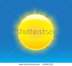 Sun With Nice Realistic Rays Vector Illustration