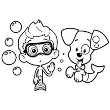 Guppy Coloring Pages Guppies Colouring Funycoloring