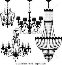Luster Chandelier Clip Artby NesaCera8 1401 Black Silhouette