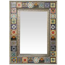 authentic mexican talavera tile and tin mirrors