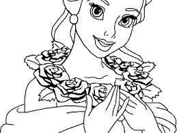 Disney Coloring Page Princess Belle Pages