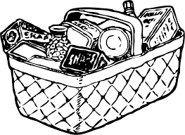 Grocery Items Clipart Black And White ClipartXtras