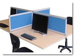 cloisonnette bureau panneau écran gamme elégance organisez vos espaces de travail