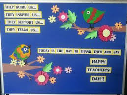 Art Craft Ideas And Bulletin Boards For Elementary Schools Teachers Day Board