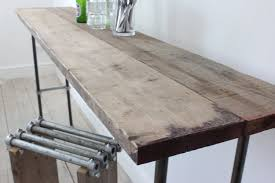Diy Reclaimed Wood Table Top by Long Hallway Diy Console Table For Narrow Spaces Made From