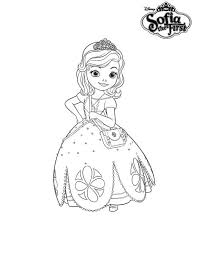 Princess Sofia The First Dress Coloring Page