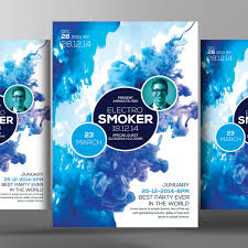Commercial Use Smoke Flyer Psd Template Advertisement Celebration PNG And PSD
