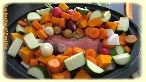 pot au feu de légumes et mignon de porc sauce moutardée la