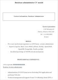 10 Sample Database Administrator Resume