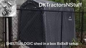 Home Depot Shelterlogic Sheds by Shelterlogic Shed In A Box 8x8x8 Setup Youtube