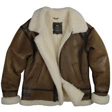alpha industries b 3 sherpa air force leather sheepskin bomber
