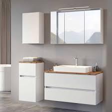 möbel badezimmer set in weiß misbonas 4 teilig