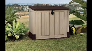 Suncast Horizontal Utility Shed by Review Keter Store It Out Midi Outdoor Resin Horizontal Storage