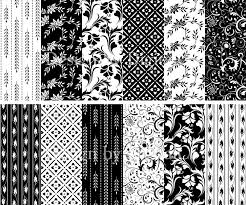 Black And White Digital Paper Floral Elegant