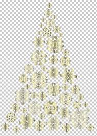 Artificial Christmas Tree Pre Lit Golden Snowflakes Snow Flakes PNG