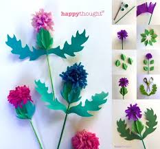Paper Craft Thistle Templates And Tutorials For Burns Night Supper Ideas Jan 25th 2016