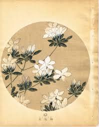Japanese Antique Woodblock Print Ito Jakuchu Azalea From