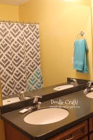 Yellow Gray Bathroom Rugs by Doodlecraft Stencil A Shower Curtain With Cutting Edge Stencils