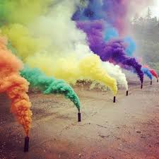 is it possible to make cigarettes that have colored smoke when lit