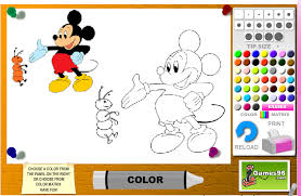 Mickey Mouse Coloring Pages Game