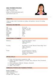Sample Resume For Filipino Teachers With Samples Ramos 3 Mobile No To Produce Perfect