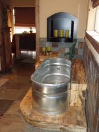 Galvanized Stock Tank Bathtub by Designs Wondrous Bathroom Bath 123 Galvanized Trough Planter