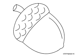 Acorn coloring page