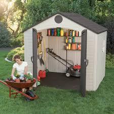 Rubbermaid Tool Shed Instructions by Lifetime 8 U0027 X 5 U0027 Outdoor Storage Building 6406 Walmart Com