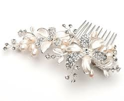 Rhinestone Bathroom Accessories Sets by Amazon Com Side Bridal Comb Wedding Hairpiece With Flowers