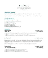 Examples Of Bartender Resumes Resume Sample Objective Example No Experience
