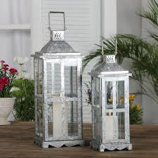 zinklaterne zain mit echtem glas für garten terrasse und