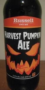 Harvest Moon Pumpkin Ale by Harvest Pumpkin Ale Russell Brewing Company Beeradvocate