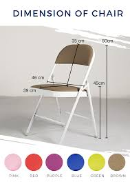 Padded Steel Folding Chair With Cushion