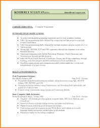 Collection Of Solutions 8 Cv Programming Skills With Resume Typing